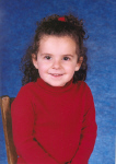 Samantha Nassief at 3 1/2 yrs - first school picture