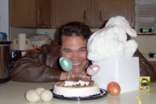 Michael and his special Easter BM Cake