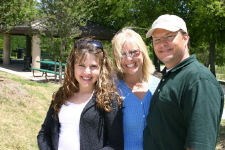 Maddie, Rebecca & Steve Jarmon